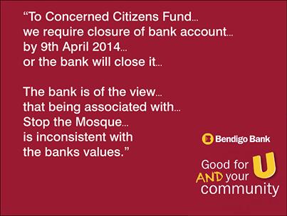 Bendigo Bank became part of the moral police of Australia.