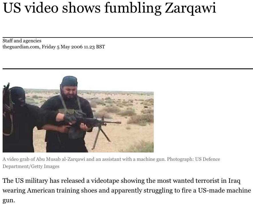 news item on Zarqawi in Iraq.